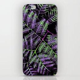 Purple & Green Bracken iPhone Skin