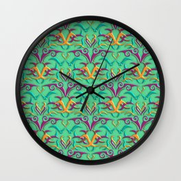 Tribal Pattern 4 Wall Clock