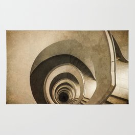 Spiral staircase in brown tones Rug