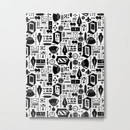 Write This Way Pattern Metal Print