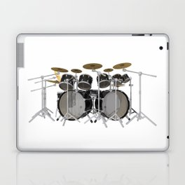 Black Drum Kit Laptop & iPad Skin