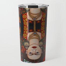 Frida Kahlo, reina de corazones II Travel Mug