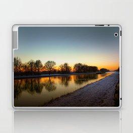 Winter sun early morning waterfront Laptop & iPad Skin