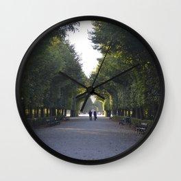 schönbrunn stroll Wall Clock