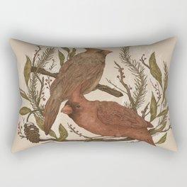 Wintery Cardinals Rectangular Pillow