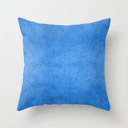 """""""Exotic Moroccan Indigo Blue Burlap Texture"""" Throw Pillow"""