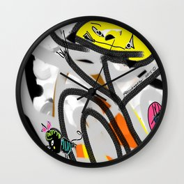 The Cat, The Bee & The Eye Wall Clock