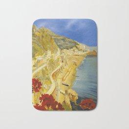 Vintage Amalfi Italy Travel Bath Mat