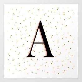 Letter A - Initial Art Print