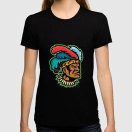 Zulu Warrior Head Mascot T-shirt