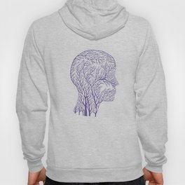 Head Profile Branches - Ultra Violet Hoody