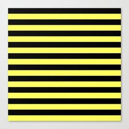 Stripes (Black & Yellow Pattern) Canvas Print
