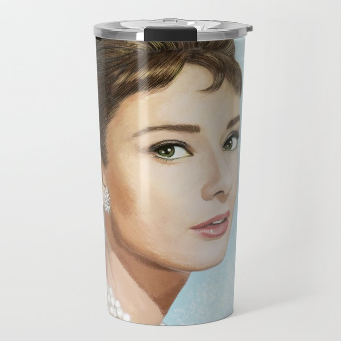 Audrey Hepburn Breakfast at Tiffany's Travel Mug