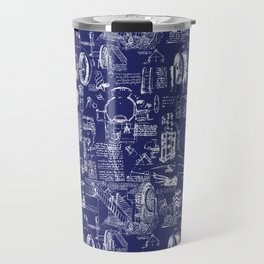 Da Vinci's Sketchbook // Dark Blue Travel Mug