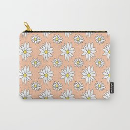 Fresh As A Daisy (Coral) Carry-All Pouch