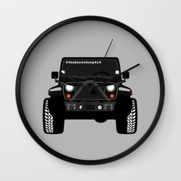 [JEEP] BLACK +GREY BG Wall Clock