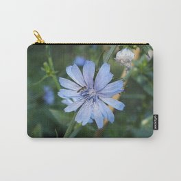 Little blue flower and bee Carry-All Pouch