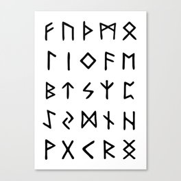 Viking Runes Canvas Print