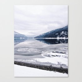 An Interrupted Reflection Canvas Print