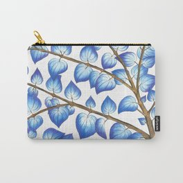 Breezy Blue Leaves Carry-All Pouch