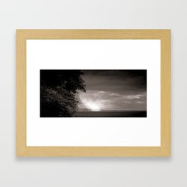 Rainy Plain Framed Art Print
