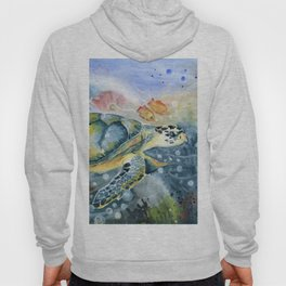 Colorful Seaturtle Art Hoody