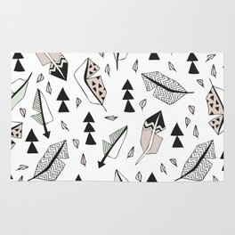 Cupid indian summer feathers and arrows Rug