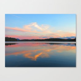 Lake Colby Sunset Canvas Print