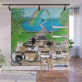 Rainbow Bridge Cats and dogs Wall Mural
