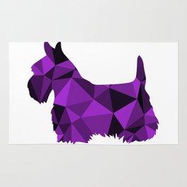 Geo Scottie - Purple Rug