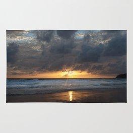 Sunset on Karon Beach Rug