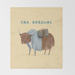Yak Kerouac Throw Blanket