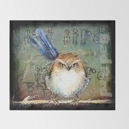 Bad bird Throw Blanket