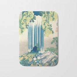 Katsushika Hokusa - Yoro Waterfall in Mino Province Bath Mat