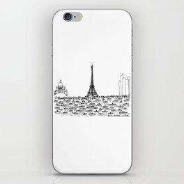 Paris skyline iPhone Skin