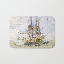 Sagrada Familia, Barcelona Spain Bath Mat