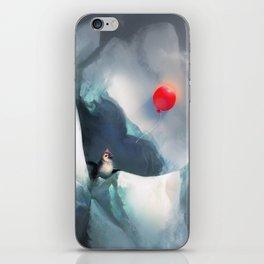 Heart Penguin iPhone Skin