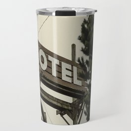 MOTEL sign Travel Mug