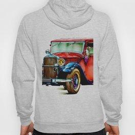 Vintage automobile retro fineart Hoody