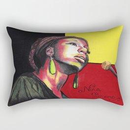 Nina Simone Painting Rectangular Pillow