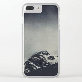 Misty Dark Mountains Clear iPhone Case