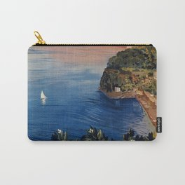 Italy Sorrento Bay of Naples vintage Italian travel Carry-All Pouch