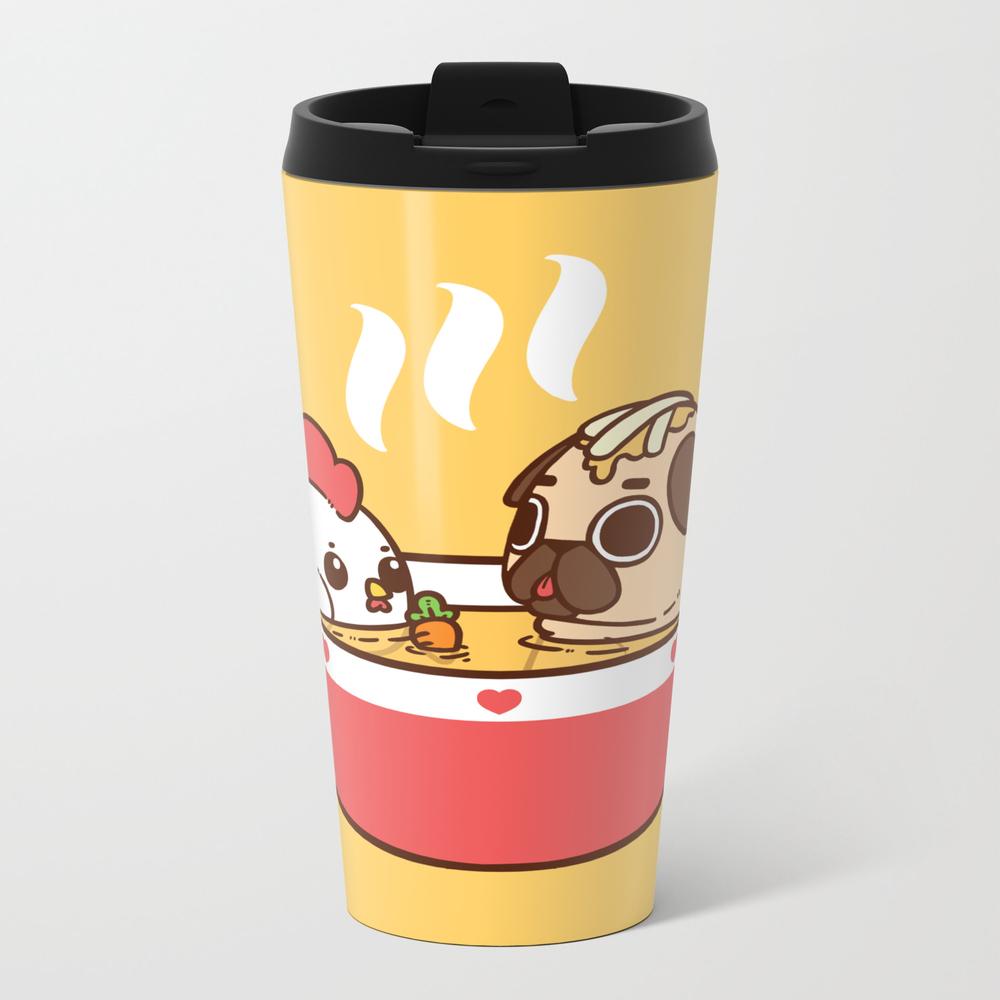 Chicken Noodle Puglie Soup Metal Travel Mug by Puglie MTM2956855
