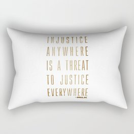 Martin Luther King Typography Quotes Rectangular Pillow