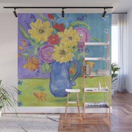 Summer Garden Flowers Wall Mural