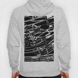 music note sign abstract background in black and white Hoody