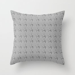 Exuberant Colts (bw) Throw Pillow