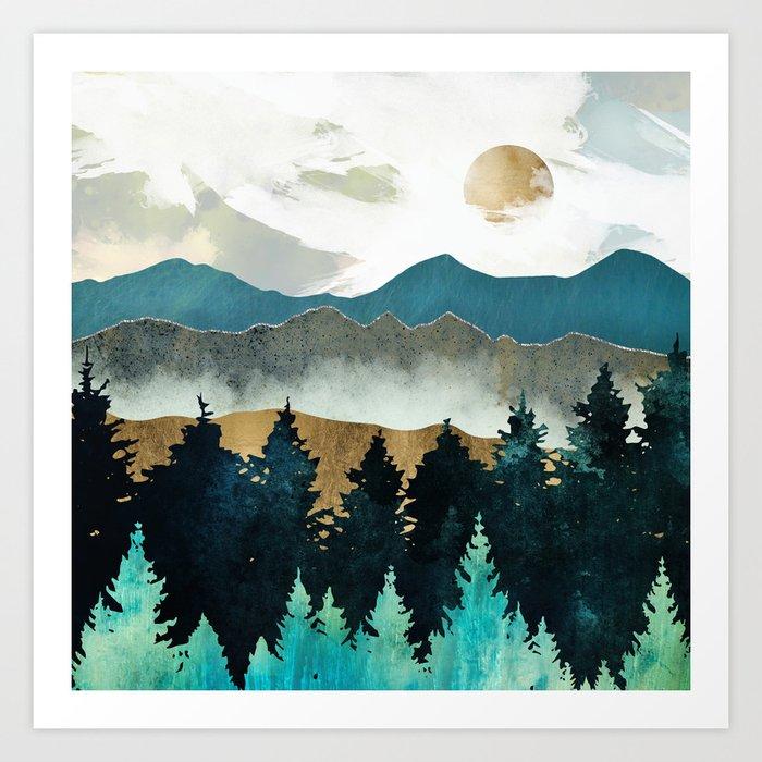 Forest Mist Kunstdrucke
