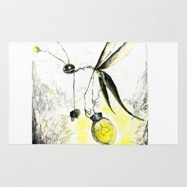 Overworked Lightening Bug Rug