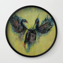 Black Swans Wall Clock